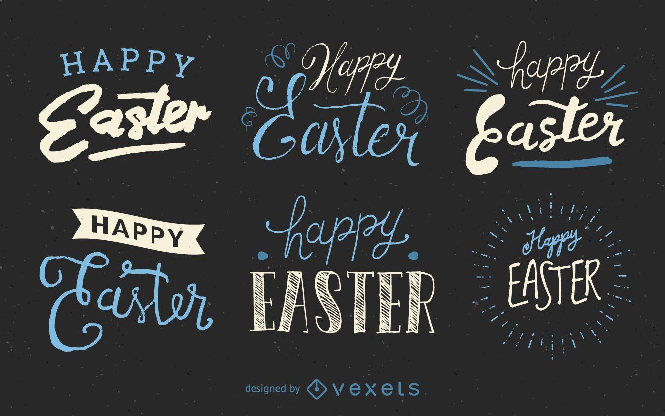 Handwritten Easter label set