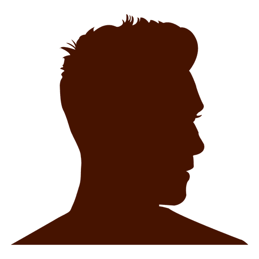 Silueta de perfil de hombre guapo