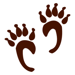 Monkey animal footprints