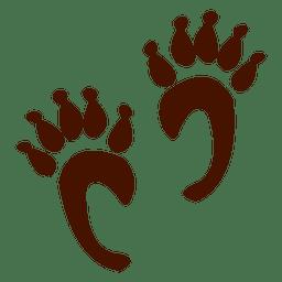 Pegadas de animais do macaco