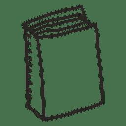 Escola de livro de caderno