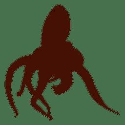 Grande silhueta de polvo