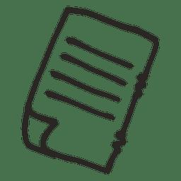 Escola de caderno de papel