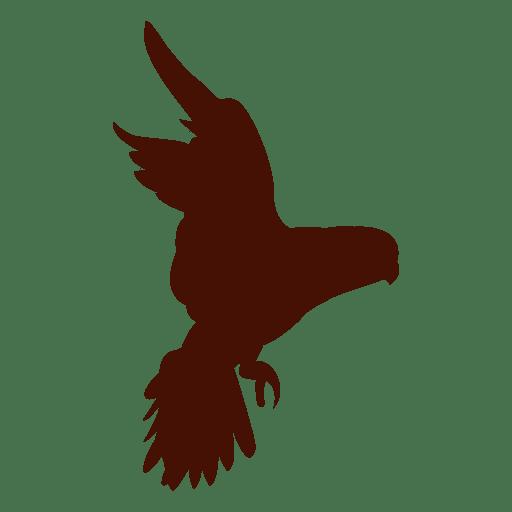 Mascota pájaro silueta alas abiertas
