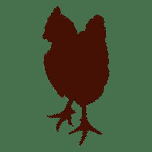 Pet chicken silhouette