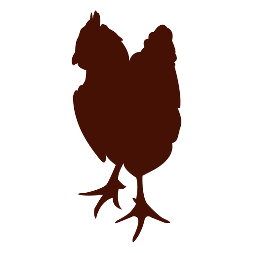 Silueta de pollo mascota