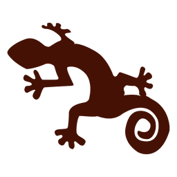 Silhueta de iguana de estimação