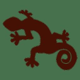 Silueta de iguana mascota