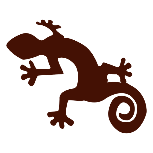 Pet iguana silhouette Transparent PNG