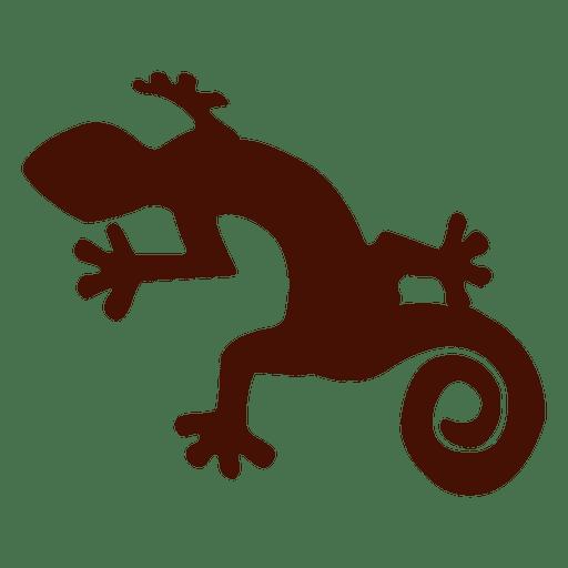 Silueta de iguana de mascota