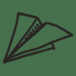 Avión plano de papel escuela