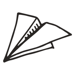 Plane escola avião de papel