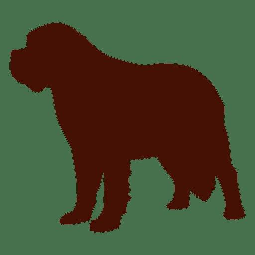 Silueta de mascota cachorro perro