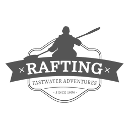Rafting badge hipster label