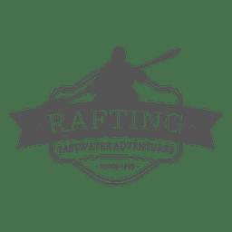 Rafting etiqueta inconformista insignia