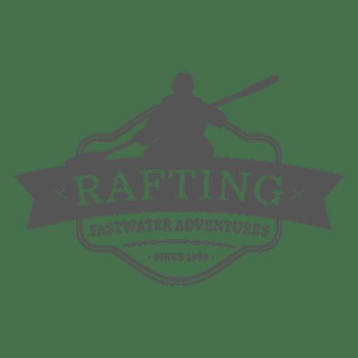 Rafting badge hipster label Transparent PNG