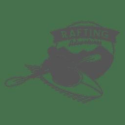 insignia inconformista Rafting