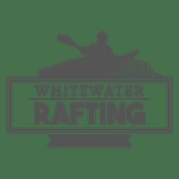 Rafting hipster etiqueta