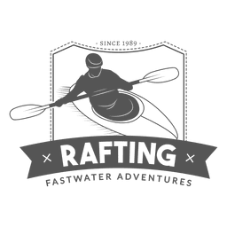 Insignia de Rafting Hipster
