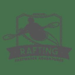 Insignia de Rafting Hipster