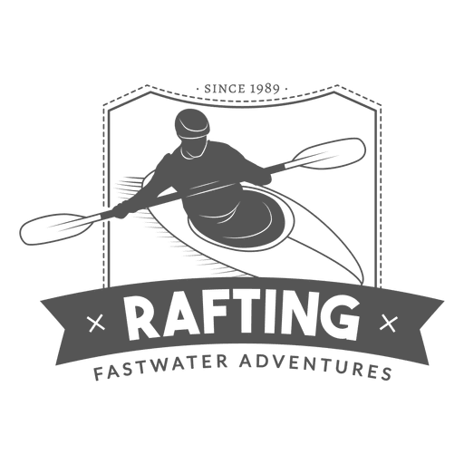 Hipster Rafting Badge Transparent PNG