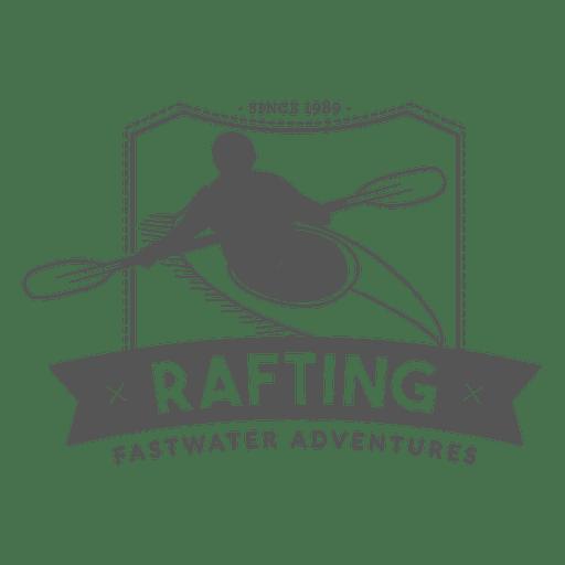 Insignia de Rafting Hipster Transparent PNG