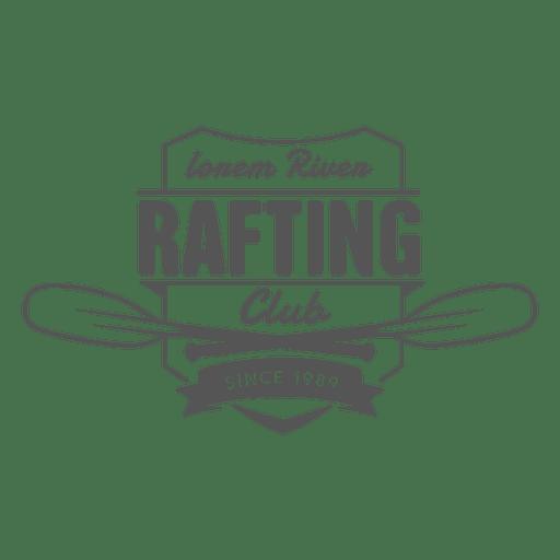 Rafting hipster label badge Transparent PNG