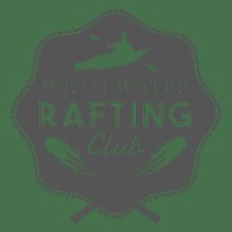 Rafting hipster etiqueta emblema silueta diseño