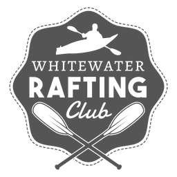 Rafting hipster label badge silhouette design