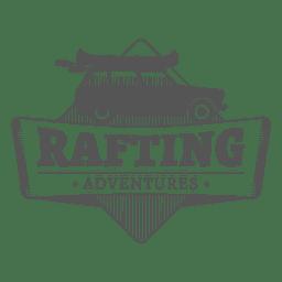 etiqueta de Rafting