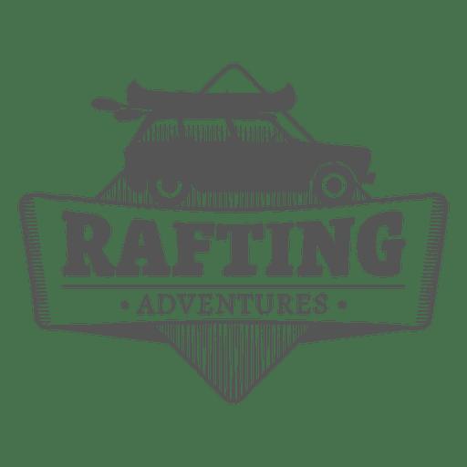 Rafting label Transparent PNG