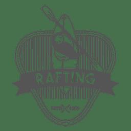 insignia etiqueta Rafting