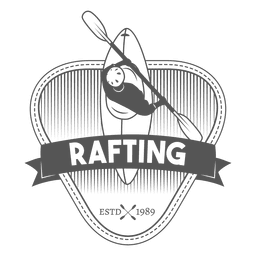 Rafting label badge