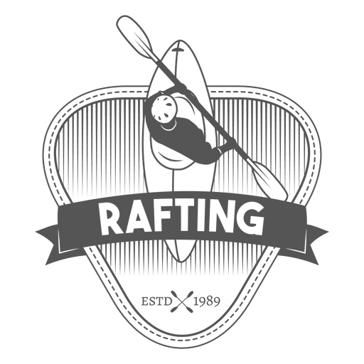 Rafting label badge Transparent PNG