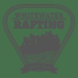 Rafting etiqueta insignia inconformista