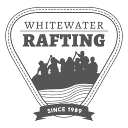 Rafting label badge hipster