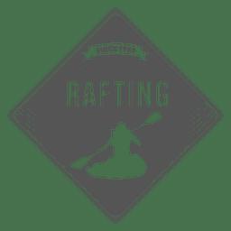 Insignia de hipster de rafting