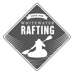Rafting label hipster badge