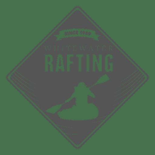 Rafting label hipster badge Transparent PNG