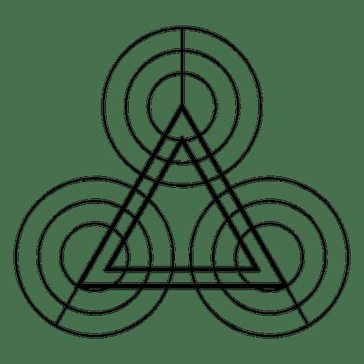 Forma de geometria de triângulos e círculos Transparent PNG
