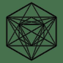 Abstrakte Darstellung der heiligen Geometrie