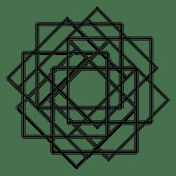 Heilige Geometrie mit Quadraten