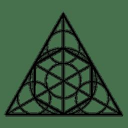 Formas de geometria sagrada em triângulo