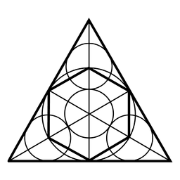 Sacred geometry shapes in triangle