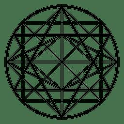 Desenho de geometria sagrada