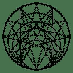 Geometría sagrada del círculo.