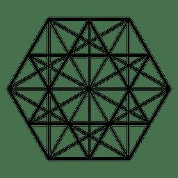 Geometría sagrada triángulos hexágono
