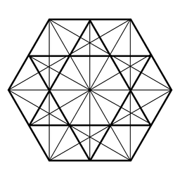 Sacred geometry triangles hexagon