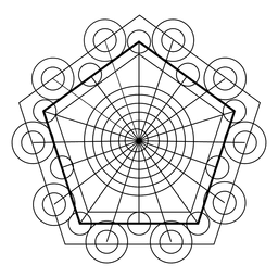 Sacred geometry pentagons and circles