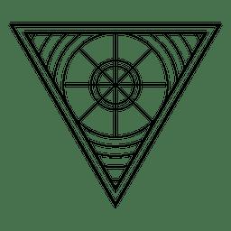Geometria sagrada triangular
